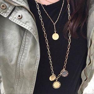 Stella & Dot Antique Coin Chain Necklace